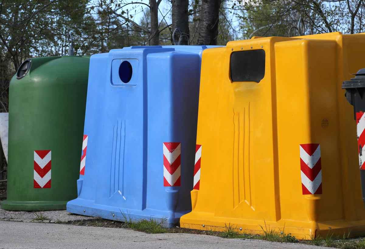 pojemniki na odpady - segregowanie odpadów