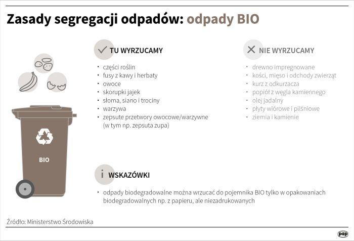 segregowanie odpadów - infografika